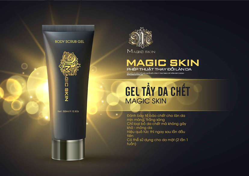 gel tẩy da chết magic skin